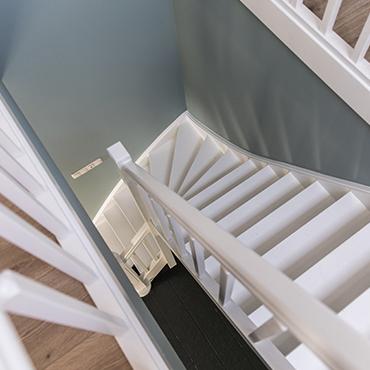 Een mooi geschilderde trap